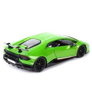 Image 3 - Maisto 1:18 הוריקן Performmante LP610 4 ירוק ספורט רכב סטטי סימולציה למות יצוק כלי רכב אספנות דגם רכב צעצועים