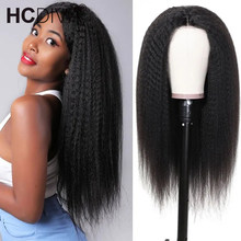 Kinky Straight Wig 13x1 Lace Front Human Hair Wigs