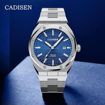 CADISEN Design Fashion Mens Watches Top Brand Luxury Sport Mechanical Automatic Watch Men NH35 Wristwatch Relogio Masculino