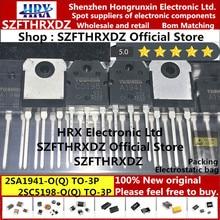 100% ใหม่ Original 2SA1941 O(Q) 2SC5198 O(Q) TO3P 2SA1941 2SC5198 A1941 C5198 TO 3P ทรานซิสเตอร์ 25PCS/หลอด (10 ชุด = 20pcs)