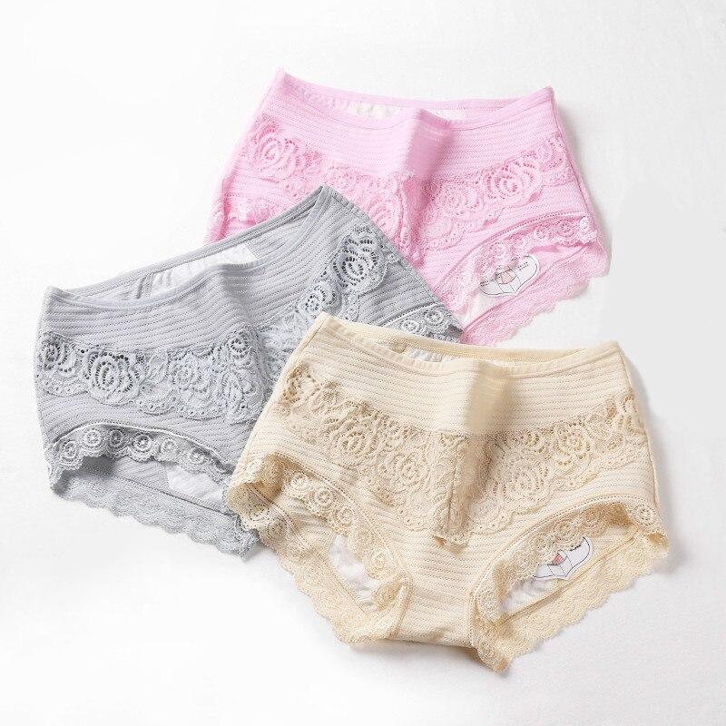 Leak Proof Menstrual   Panties   Physiological Pants Women Underwear Comfort Cotton Lace Solid Color Mid Rise Briefs 9059