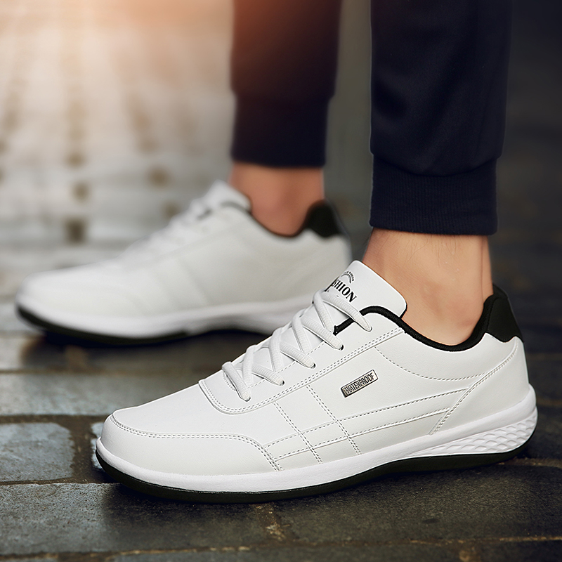 2021 Leather Men Shoes Sneakers Big Size 48 Men Casual Shoes Italian Breathable Leisure Male Non-Slip Footwear Vulcanized Shoes 2