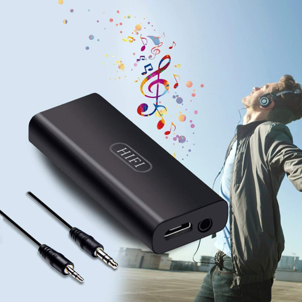Headphone Amplifier Rechargeable 3.5mm Portable Stereo For Phone Black Music Improver Mini Earphone HIFI Home Powerful Audio #2