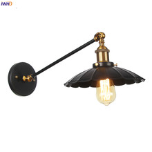 IWHD Single Long Arm LED Wall Light Fixtures Up Down Adjustable Edison Wandlamp Loft Decor Industrial Vintage Wall Lamp Sconce iwhd adjustable arm led wall light vintage industrial lighting wall lamp style loft retro iron sconce luminaire on the wall