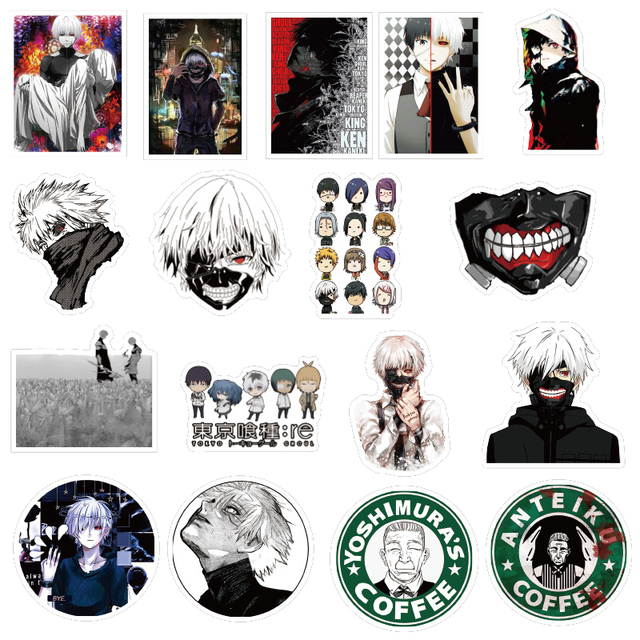 10/30/50Pcs Tokyo Ghoul Anime Stickers Speelgoed Stickers Voor Auto Styling Bike Motorcycle Telefoon Laptop Reizen bagage Cool Sticker