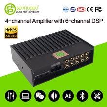 Sennuopu carro dsp amplificador para alto-falantes 6 canais sistema de áudio bluetooth jogar processador de som tuning por app alta quality1