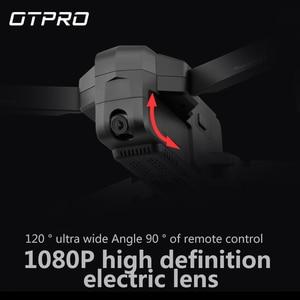 "Image 4 - OTPRO מצלמה מיני מל ""טים dron RC מסוק FPV 3 ציר Gimbal wifi 4K מצלמה GPS RC מזלט Quadcopter RTF במלאי! VS X8 SE x8se"