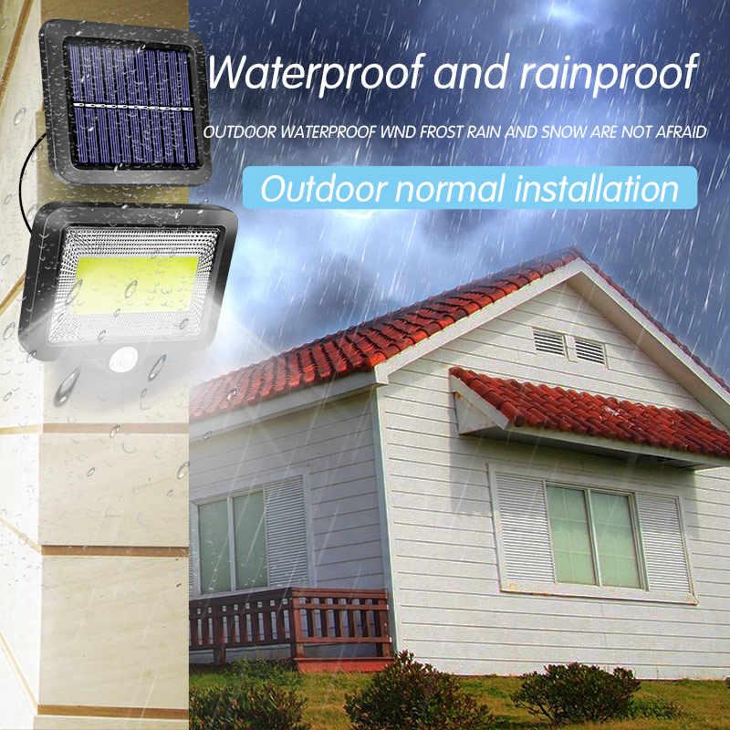 100 LEDs Solar Lampe IP65 Wasserdicht Sun Power Wand Lichter PIR Motion Sensor Outdoor Notfall Licht für Garten Industrie Garage