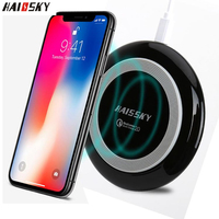 HAISSKY USB Qi Fast Wireless Charger For Samsung Note 10 Plus S10 Quick Charging Pad For iPhone 11 Pro Max X XS 8 Phone Charger|Mobile Phone Chargers| |  -