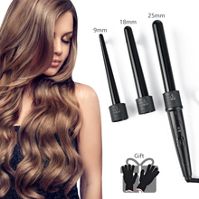 Crimper Hair-Curler Iron Curling Hair-Styling-Tools Professional for 9-25mm-Hair 3-In-1