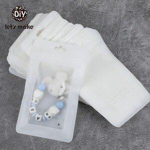 Image 1 - 비닐 봉투를 만들자 백색 100pcs (19.5x11.5 cm) 전시 부대 BPA 자유로운 아기 장난감 포장 쇼 펀치 펜던트 부대 부속품