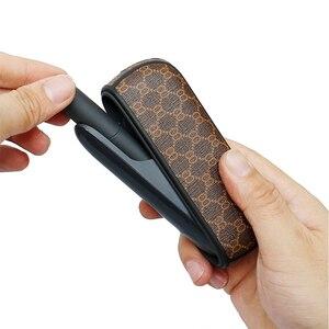 Image 2 - מגן מקרה עבור E סיגריה נייד מחזיק תיק עבור iqos 3 3.0 עסקי יוקרה עור כיסוי אהבה טוב handfeeling