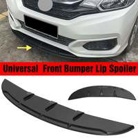 Universal Car Auto Front Bumper Diffuser Lip Protector Spoiler Splitter Fins Body For Benz/BMW/Honda