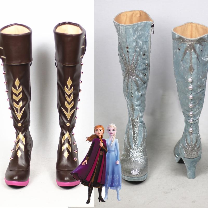 Новинка 2020, обувь для косплея Снежной Королевы принца, Анны, Эльзы, аниме сапоги, изготовленные на заказ