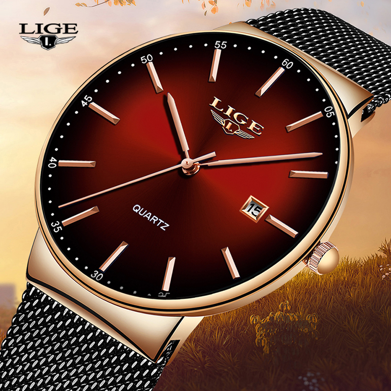 LIGE Brand Luxury Women Watches Fashion Quartz Ladies Watch Sport Relogio Feminino Clock Wristwatch For Lovers Girl Friend 2019