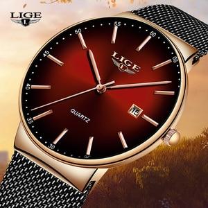 Image 1 - LIGE Brand Luxury Women Watches Fashion Quartz Ladies Watch Sport Relogio Feminino Clock Wristwatch for Lovers Girl Friend 2019