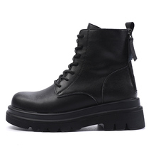 Boots Shoes Military-Booties Motorcycle Vintage Snow Women Female Autumn Winter Fashion
