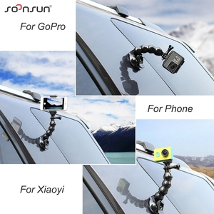 Image 5 - SOONSUN Jaws Flex Suction Cup with Phone Clip Holder 1/4 Mount Adapter for GoPro Hero 9 8 7 6 5 4 for DJI Osmo Action Accessory
