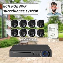Камера видеонаблюдения kerui h265 8 каналов 5 Мп nvr poe водонепроницаемая