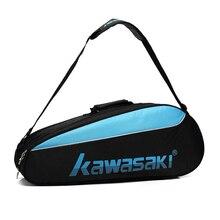 Kawasaki, сумка для бадминтона, большая емкость, для игры в теннис, сквош, водонепроницаемый рюкзак для спортсмена, 4-6 шт., спортивная сумка для ракетки