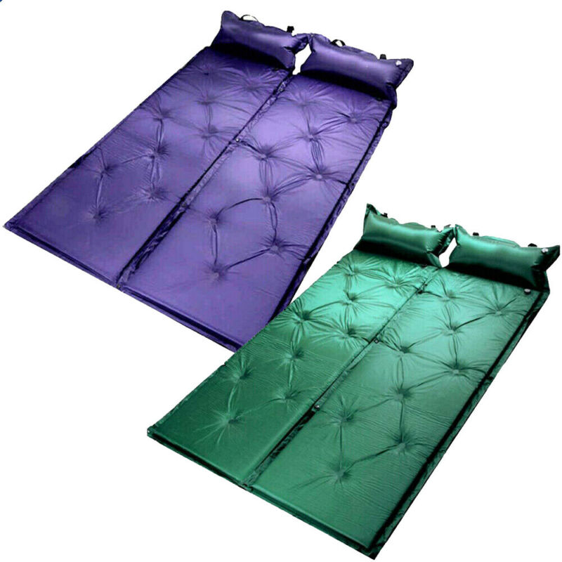 Newest Portable Outdoor Inflatable Cushion Camping Mat Sleeping Pad Air Mattress