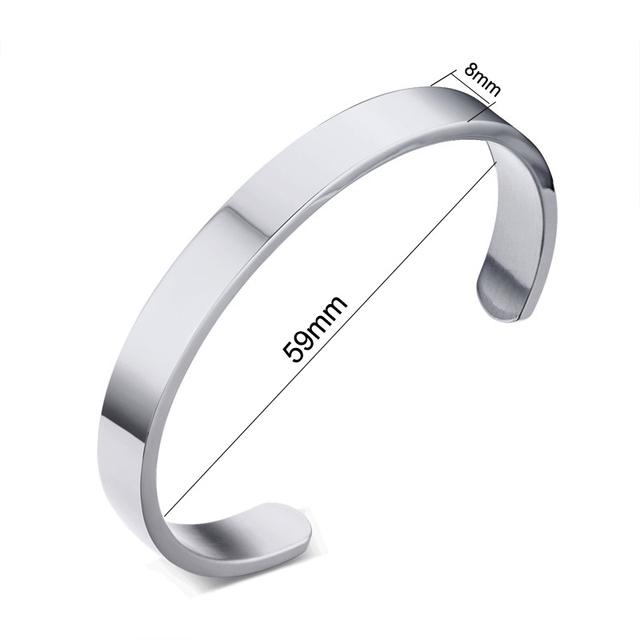 Vnox Personalize Bangle Men...