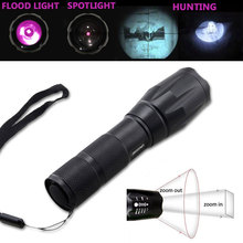 IR 940nm Flashlight Zoom Infrared Night Vision Outdoor Hunting Light Torch +18650 Battery+Gun Mount+Remote Pressure Switch uniquefire 1508 osram infrared 940nm led flashlight 38mm convex lens night vision zoomable torch 3 mode remote pressure switch