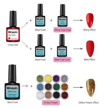 Nail Set UV LED Lamp 80W 54W Dryer With 24/16/8pcs Nail Gel Polish Kit Soak Off Manicure Nail Tools Set 3