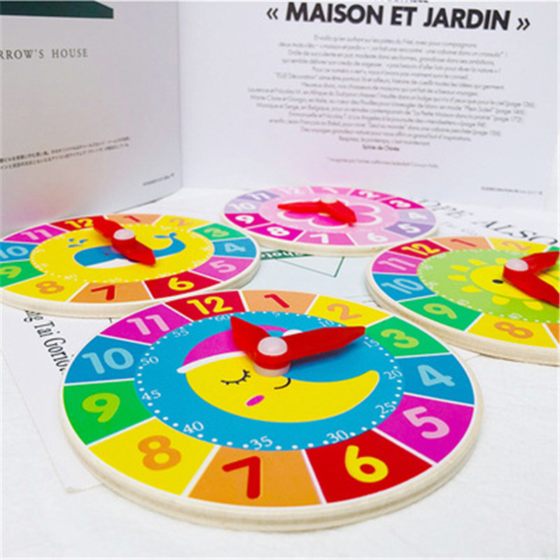 Montessori éducatif en bois jouet 3D Puzzle en bois horloge sensorielle mathématiques Puzzle cerveau formation intellectuelle apprentissage jouet