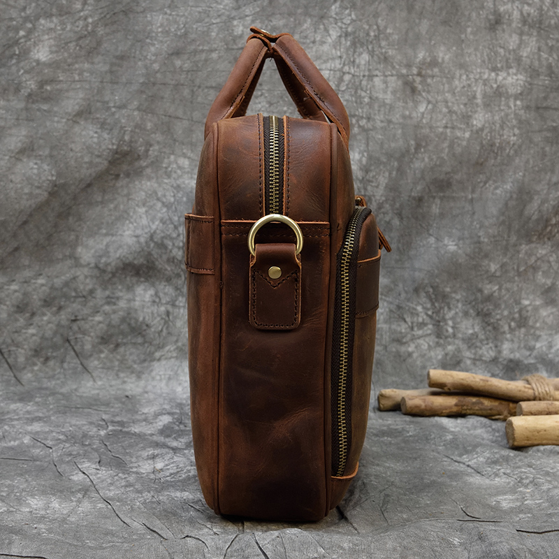 """H8d5b943830b143f0852c76a7f0bdb3c8a MAHEU Men Briefcase Genuine Leather Laptop Bag 15.6"""" PC Doctor Lawyer Computer Bag Cowhide Male Briefcase Cow Leather Men Bag"""