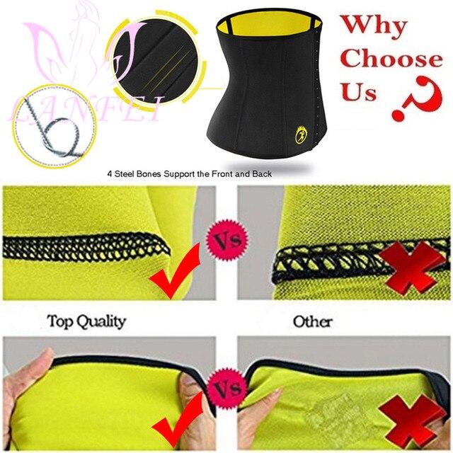 LANFEI S-6XL Body Shaper Corset Waist Trainer Slimming Belt for Women Neoprene Weight Loss Sweat Gym Fitness Modeling Underwear 5