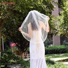 Youlapan V53 Шорты Кружева Аппликация Невеста Фата Свадьба Фата Кружево Цветы +Локоть Длина Свадебный Фата Волосы Расческа Локоть Длина