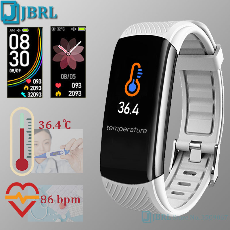 sport bluetooth smart watch women body temperature Measure Smart band men smartwatch Android IOS fitness bracelet clock heart