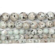 Pedra natural tianshan azul granito veias redondas grânulos soltos para fazer jóias para contas de costura diy costa 6/8/10/12mm