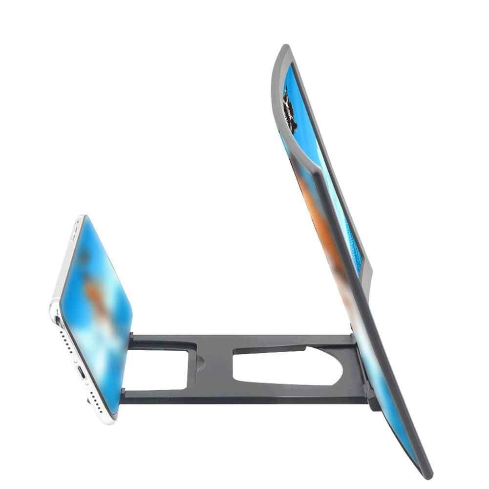 12 インチポータブル携帯電話画面アンプ iphone サムスン xiaomi 電話 Hd 曲面ブラケット拡大鏡 3X-4X 拡大鏡ツール
