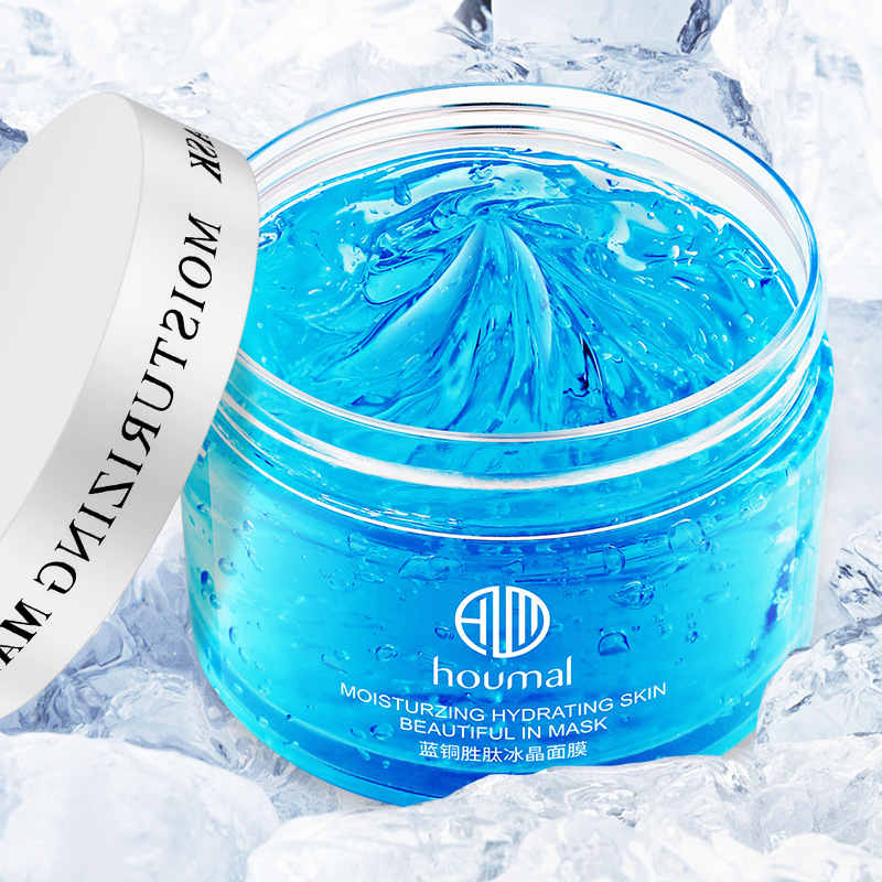 Blue Copper Peptide Ice Crystal Mask Korean Skin Care  Clay Mask Beauty