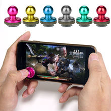 2pcs Set Phone Game Joystick Random Colors Gaming Joypad Touch Screen Mobile Cell Games Rocker Controller For Smartphone iPhone(China)