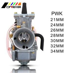 Motorcycle Universal Carburetor Carburador Cable Carb. Racing For Keihin Mikuni With Power Jet PWK 21 24 26 28 30 32 34mm