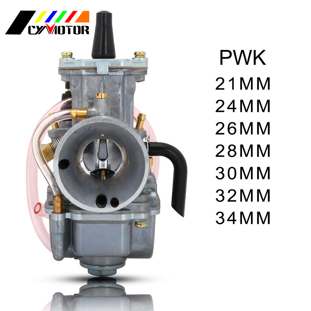 Motorcycle Universal Carburetor Carburador Cable Carb. Racing For Keihin Mikuni With Power Jet <font><b>PWK</b></font> 21 24 26 28 30 32 <font><b>34mm</b></font> image