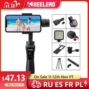 Image 1 - Keelead 3 Axis Handheld Gimbal Stabilizer Voor Smartphone Actie Camera Video Record Tik Youtube Tiktok Tok Vlog Live