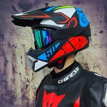 Uomo Donna Motocross Del Motociclo Del Casco di Motocross di ATV MTB MTB DH Casco Da Corsa Croce Helm Capacetes
