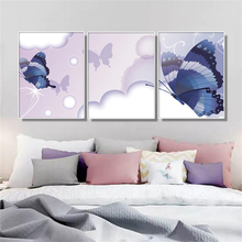 3 Pcs Wall Art Butterfly Paintings On Canvas Living Room Kid Room Decoration Posters And Prints Nordic Home Decor Art Picture dazzle butterfly prints diamond paintings