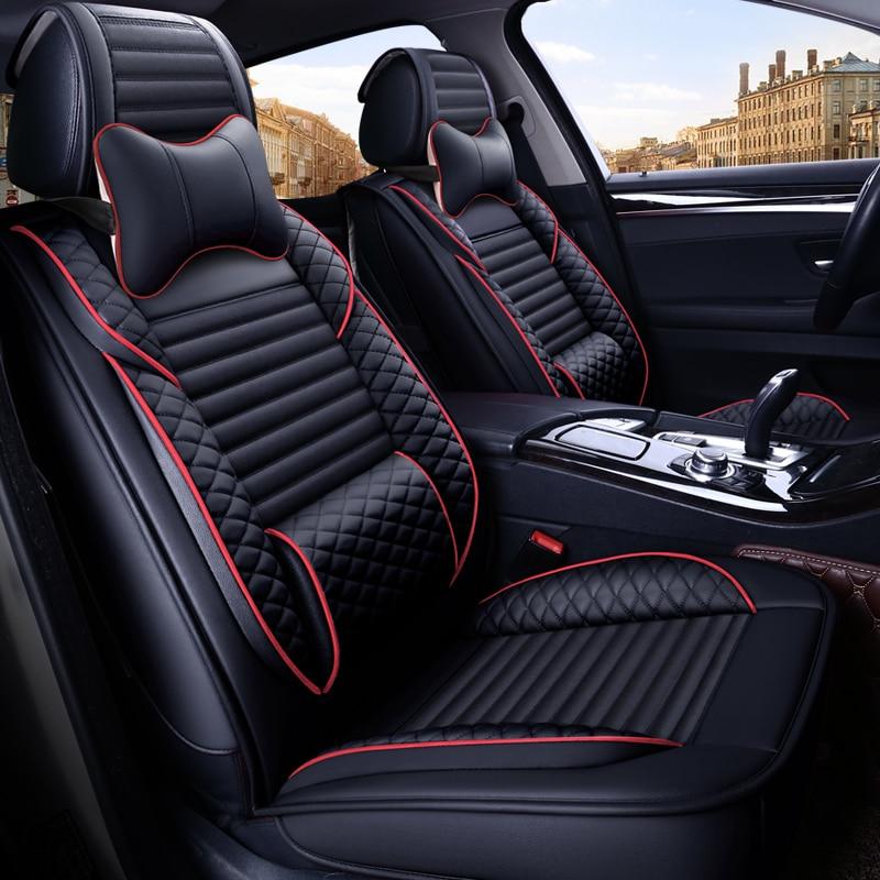 Full Coverage Eco leather auto seats covers PU Leather Car Seat Covers for alfa romeo156 alfa romeogiulietta audia3 8l 8p 8v|Automobiles Seat Covers| |  - title=