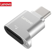 Lenovo D201 USB Type C Card Reader 480Mbps 512GB USB-C TF Micro SD OTG Adapter Type-C TF Memory Card Reader For Laptop Phone