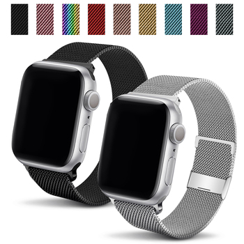flim strap for apple watch 5 band 44mm 40mm iwatch band 42mm 38mm milanese loop bracelet metal watchband for apple watch 4 3 2 1 Strap For Apple Watch Seires SE 6 5 4 3 2 1 on iWatch Band 44mm 42mm Accessories Belt Bracelet Milanese Loop WatchBand 40mm 38mm