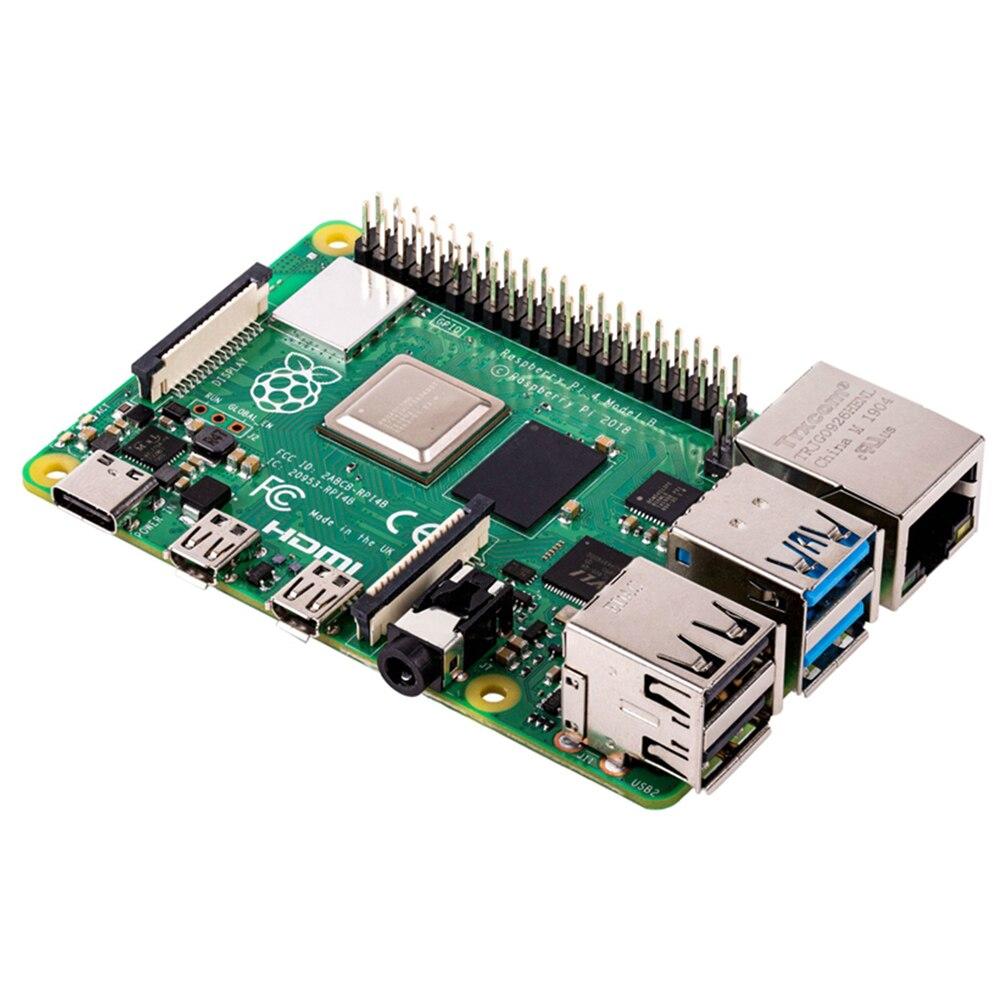 Dernière framboise Pi 4 modèle B avec 1/2/4GB RAM BCM2711 Quad core bras de Cortex-A72 v8 1.5GHz soutien 2.4/5.0 GHz WIFI Bluetooth 5.0 - 2
