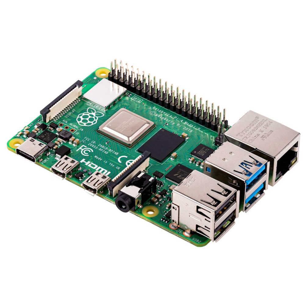 Novo oficial raspberry pi 4 4gb ram placa de desenvolvimento v8 1.5ghz suporte 2.4/5.0 ghz wifi bluetooth 5.0 raspberry pi 4 modelo b
