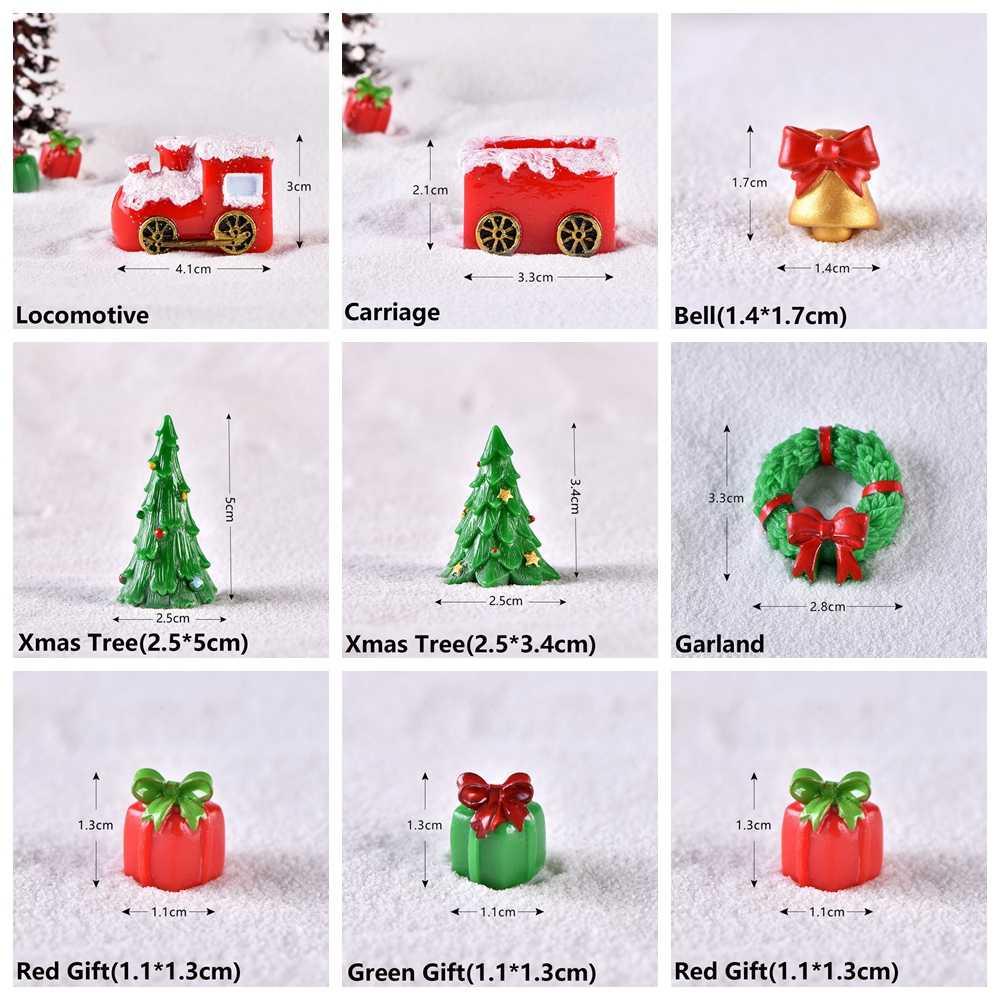 1 PC Tặng Micro Phong Cảnh Cây Cảnh Vườn Cổ Tích Trang Trí Nhà Người Tuyết In Hình Hoa Lá Mini Ông Già Noel Xmas Vật Trang Trí Phụ Kiện