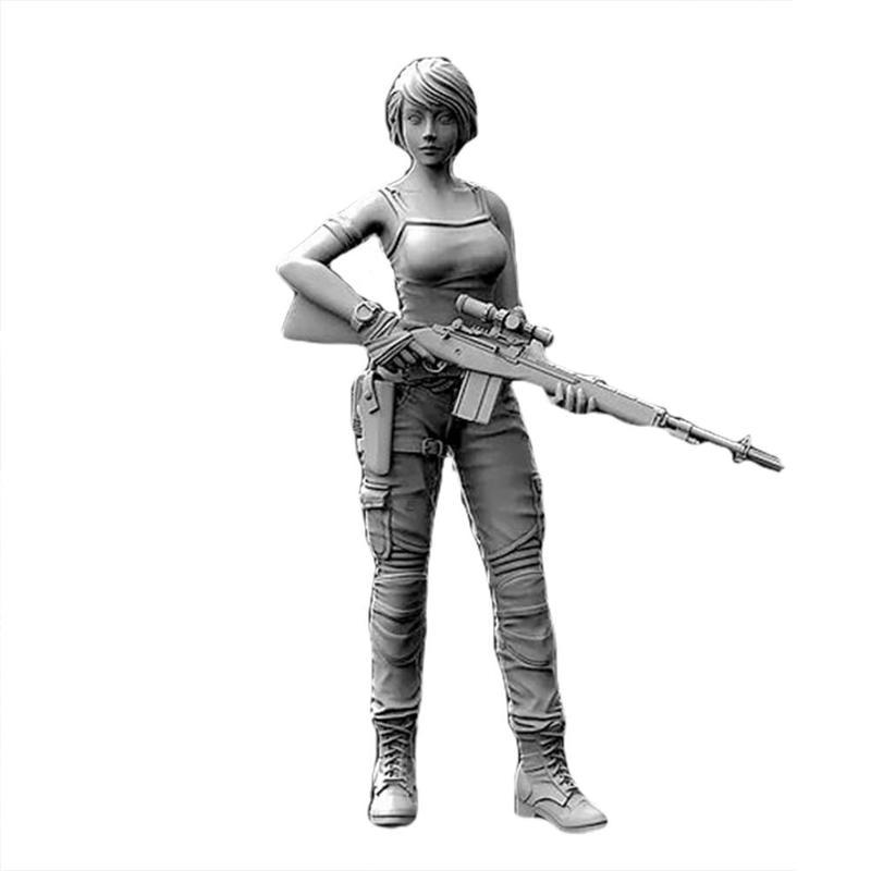 Yufan 1/35 미국 해군 여성 스나이퍼 수지 병사 5cm 정적 수지 모델 포함 모델 부품 정품 포장 제품 카드
