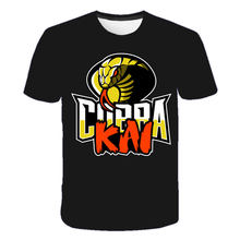 Cobra Kai 3d Printing T-shirt for Children and Adolescents Round Neck Thai Vein Snake 3d Printing Tee